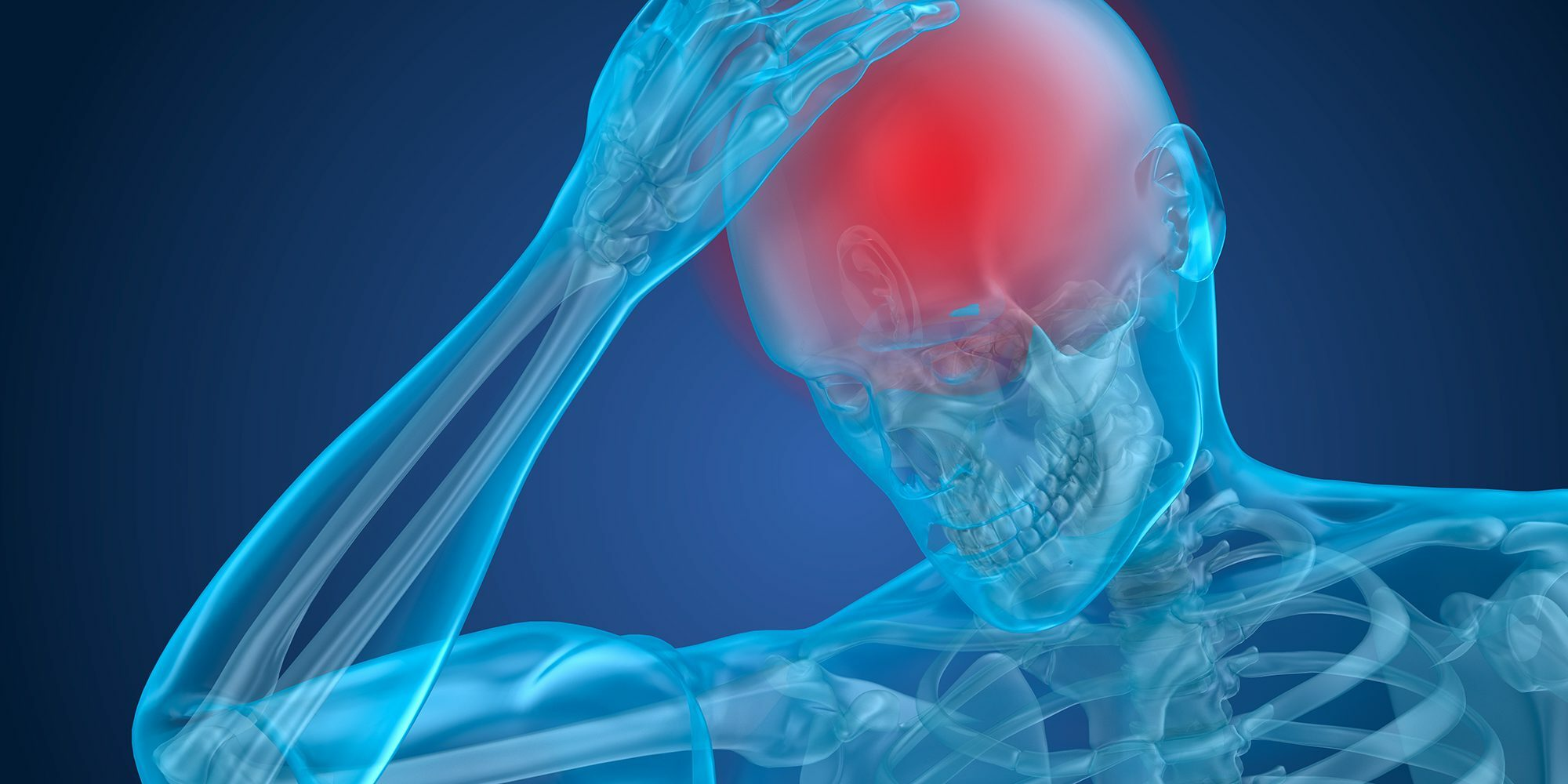 graphic of a person holding his head from pain