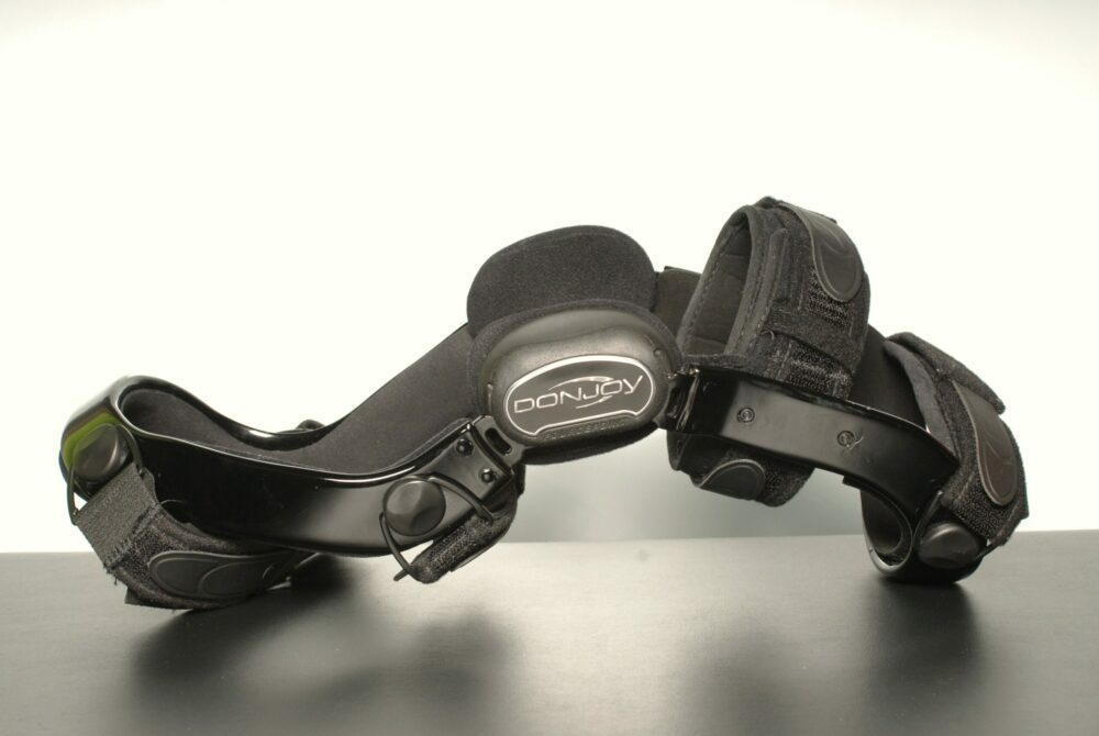 black Donjoy custom knee brace