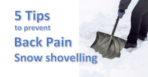 5 tips for preventing back pain while snow shovelling