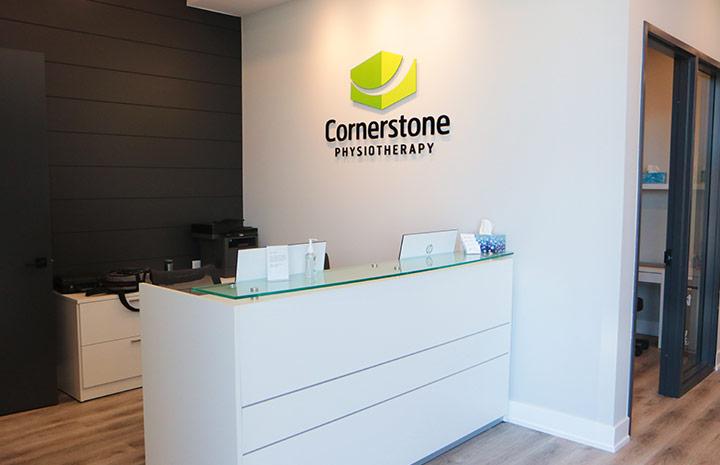 Cornerstone Physiotherapy Burlington's front desk