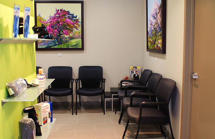 Cornerstone Physiotherapy College Station Clinic waiting area