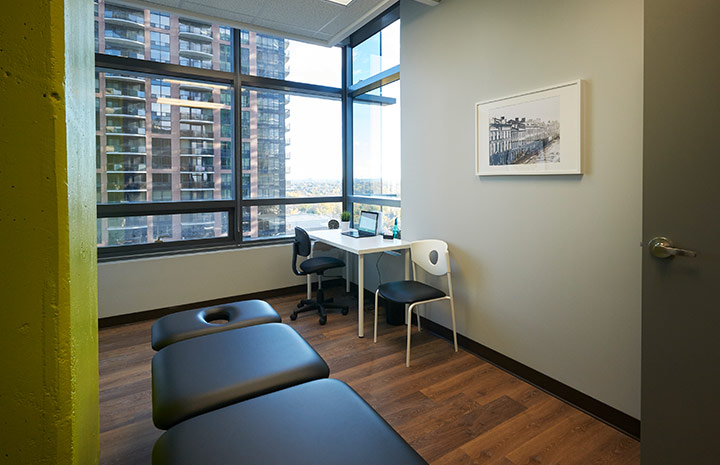 Cornerstone Physiotherapy North York private treatment room