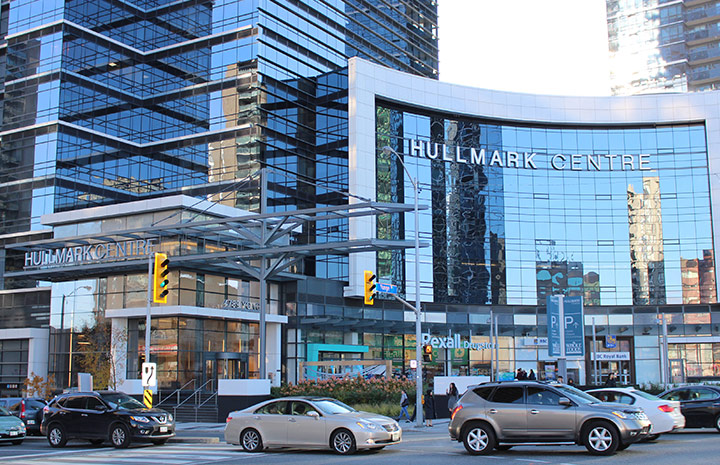 Cornerstone Physiotherapy North York Hullmark Centre exterior