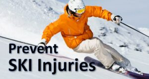 prevent ski injuries downhill skiier