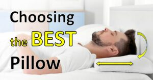 man lying on back on best pillow for different sleep positions IG